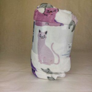 Cats Ultra Plush Supersoft Blanket 60x72 NWT